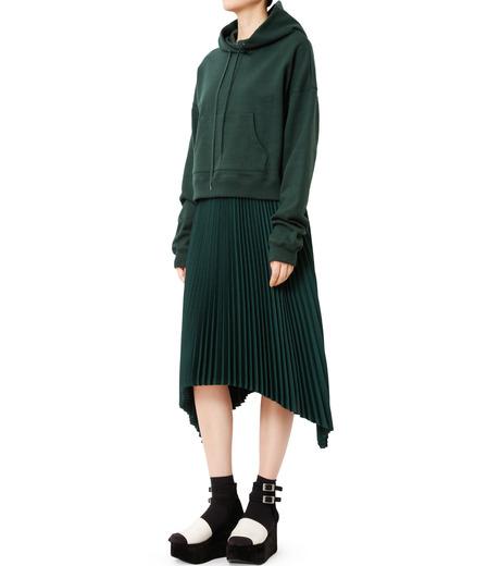 LE CIEL BLEU(ルシェルブルー)のハンカチーフヘムプリーツスカート-GREEN(スカート/skirt)-18A67423 詳細画像3
