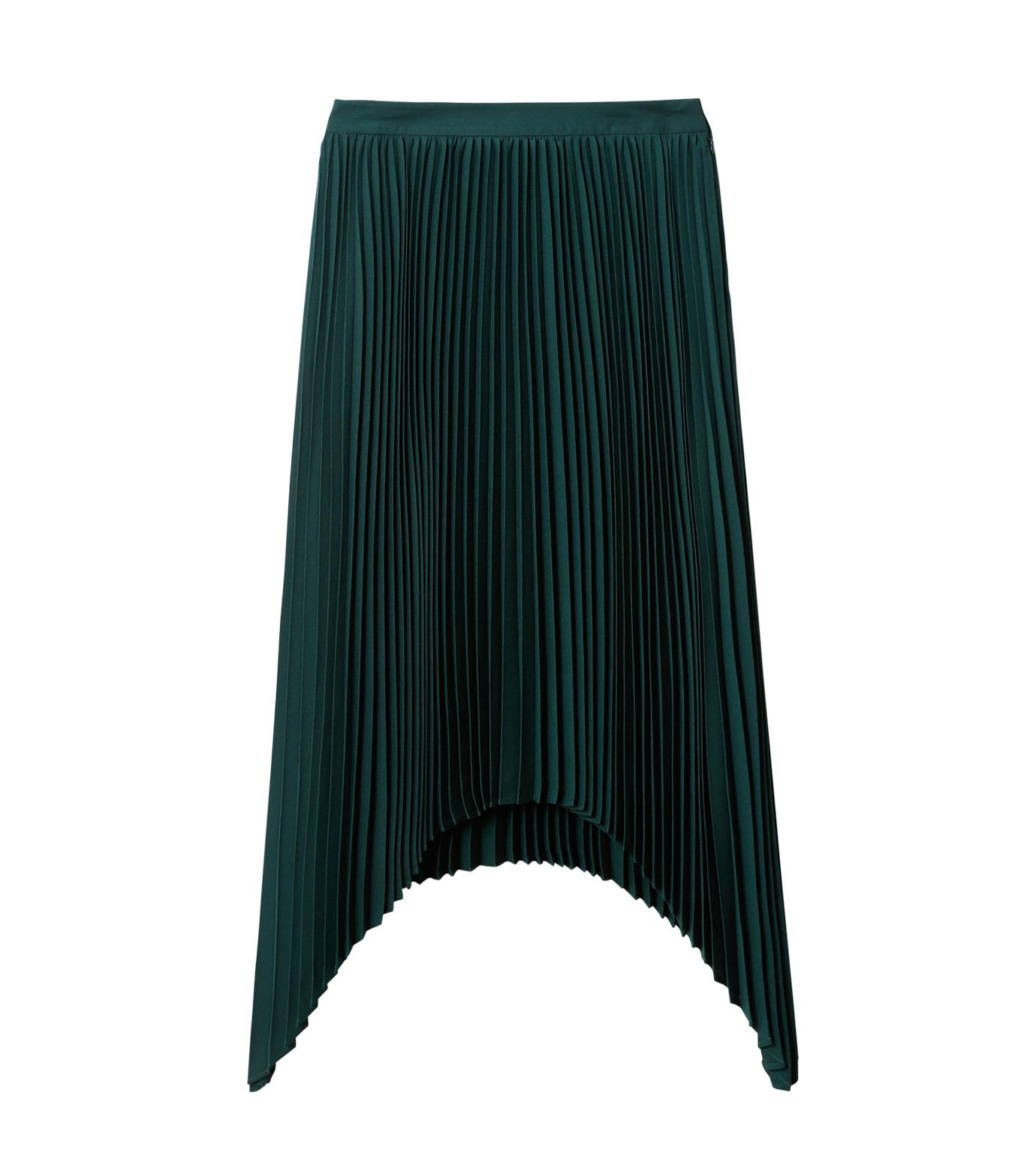 LE CIEL BLEU(ルシェルブルー)のハンカチーフヘムプリーツスカート-GREEN(スカート/skirt)-18A67423 拡大詳細画像4