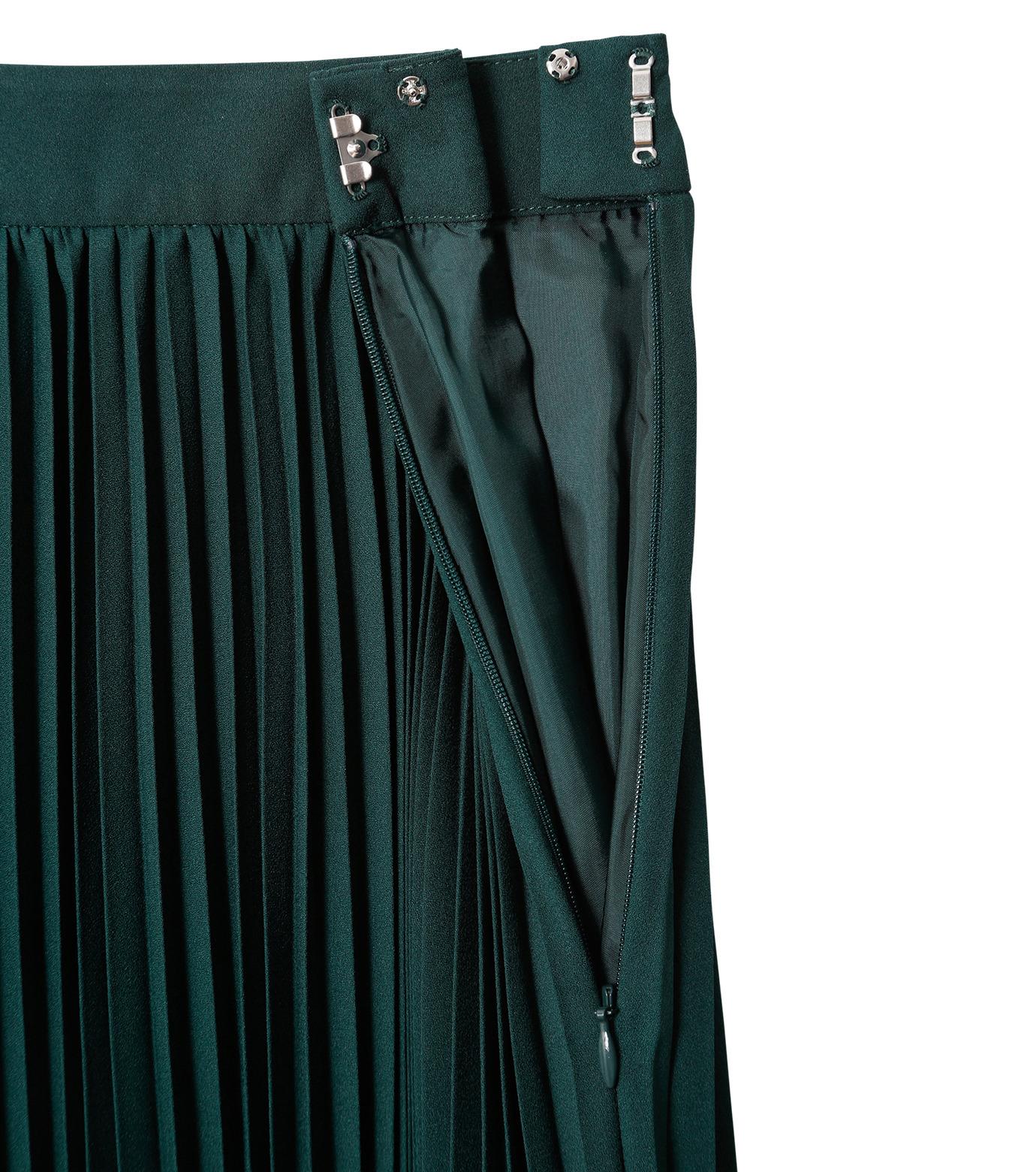 LE CIEL BLEU(ルシェルブルー)のハンカチーフヘムプリーツスカート-GREEN(スカート/skirt)-18A67423 拡大詳細画像5