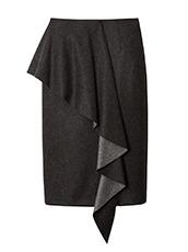 LE CIEL BLEU ラッフルタイトスカート