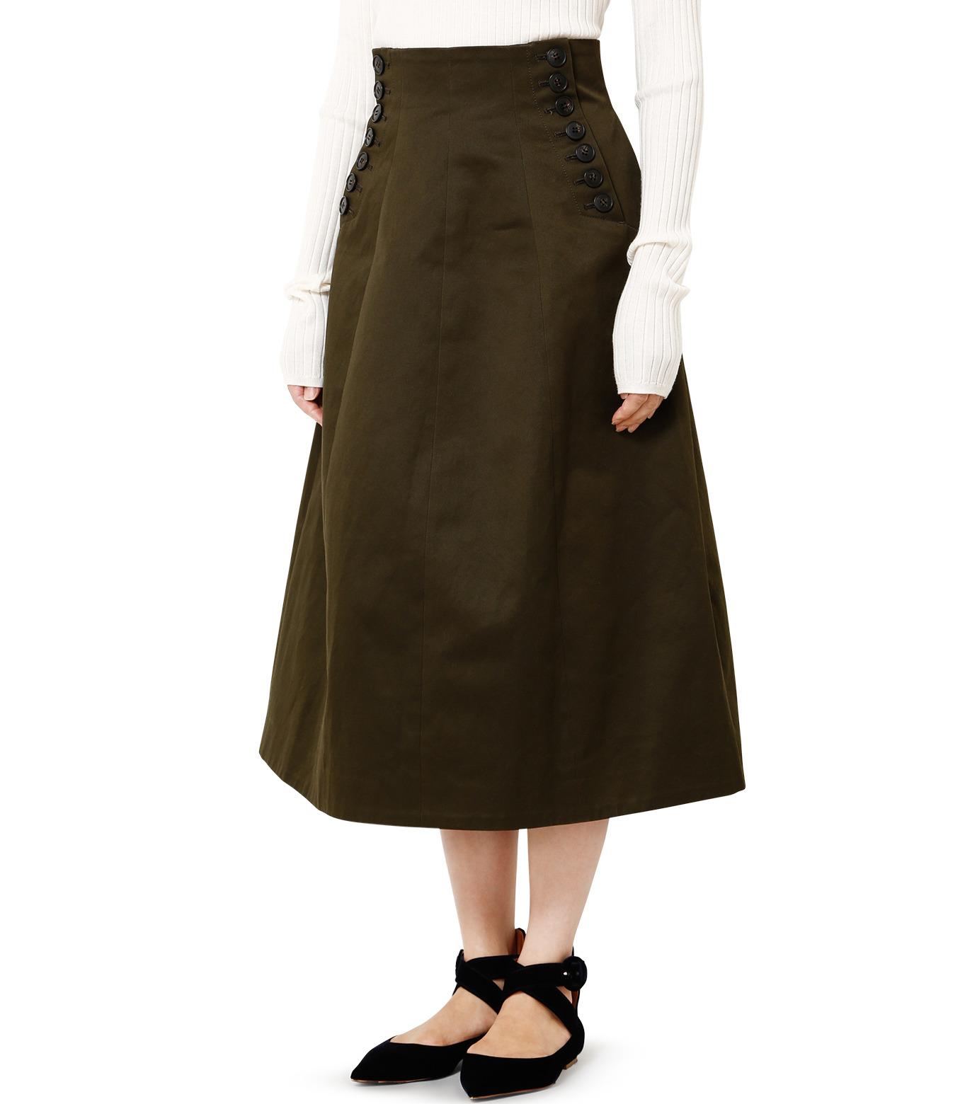 LE CIEL BLEU(ルシェルブルー)のコルセットスカート-KHAKI(スカート/skirt)-18A67528 拡大詳細画像1