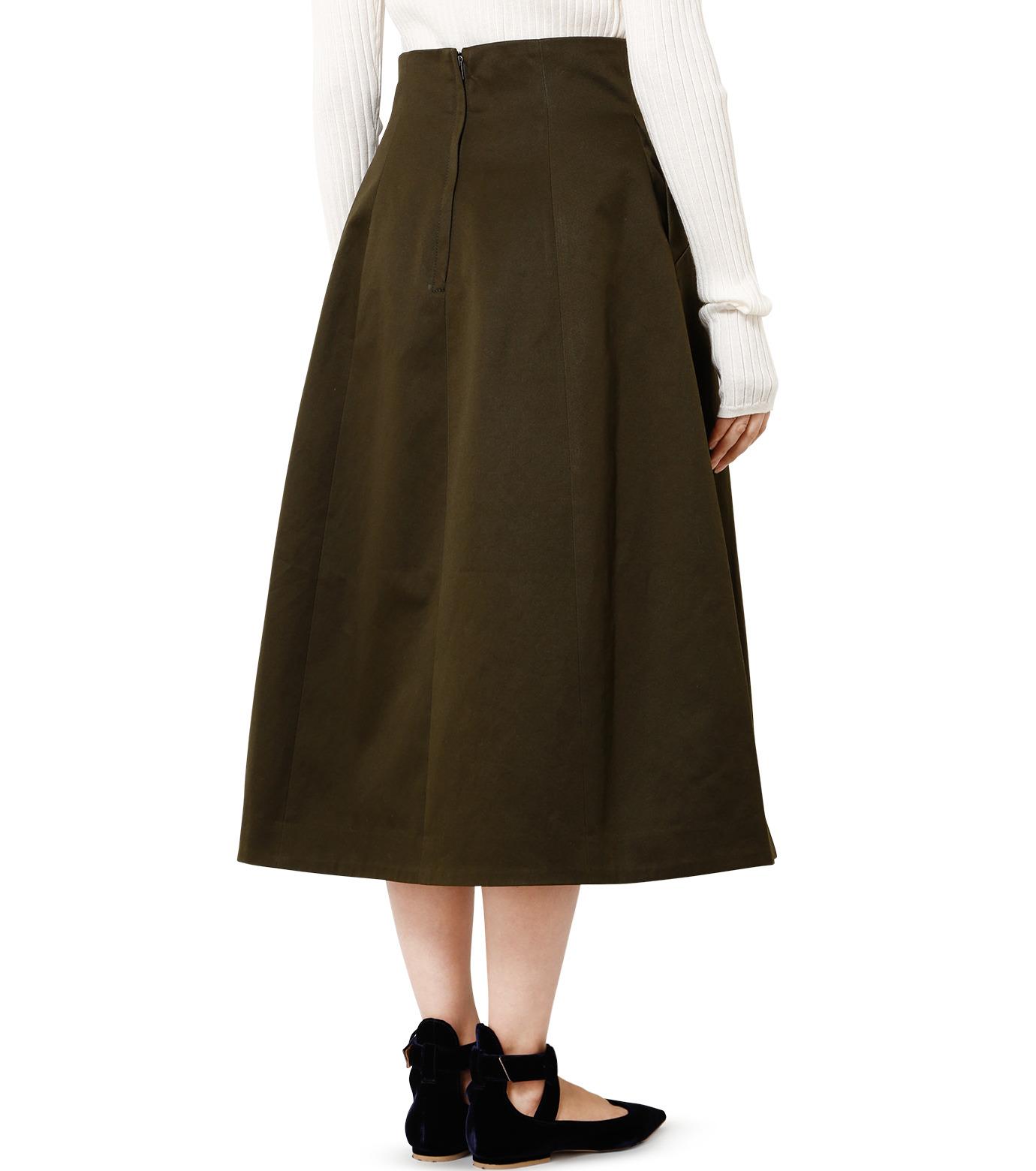 LE CIEL BLEU(ルシェルブルー)のコルセットスカート-KHAKI(スカート/skirt)-18A67528 拡大詳細画像2