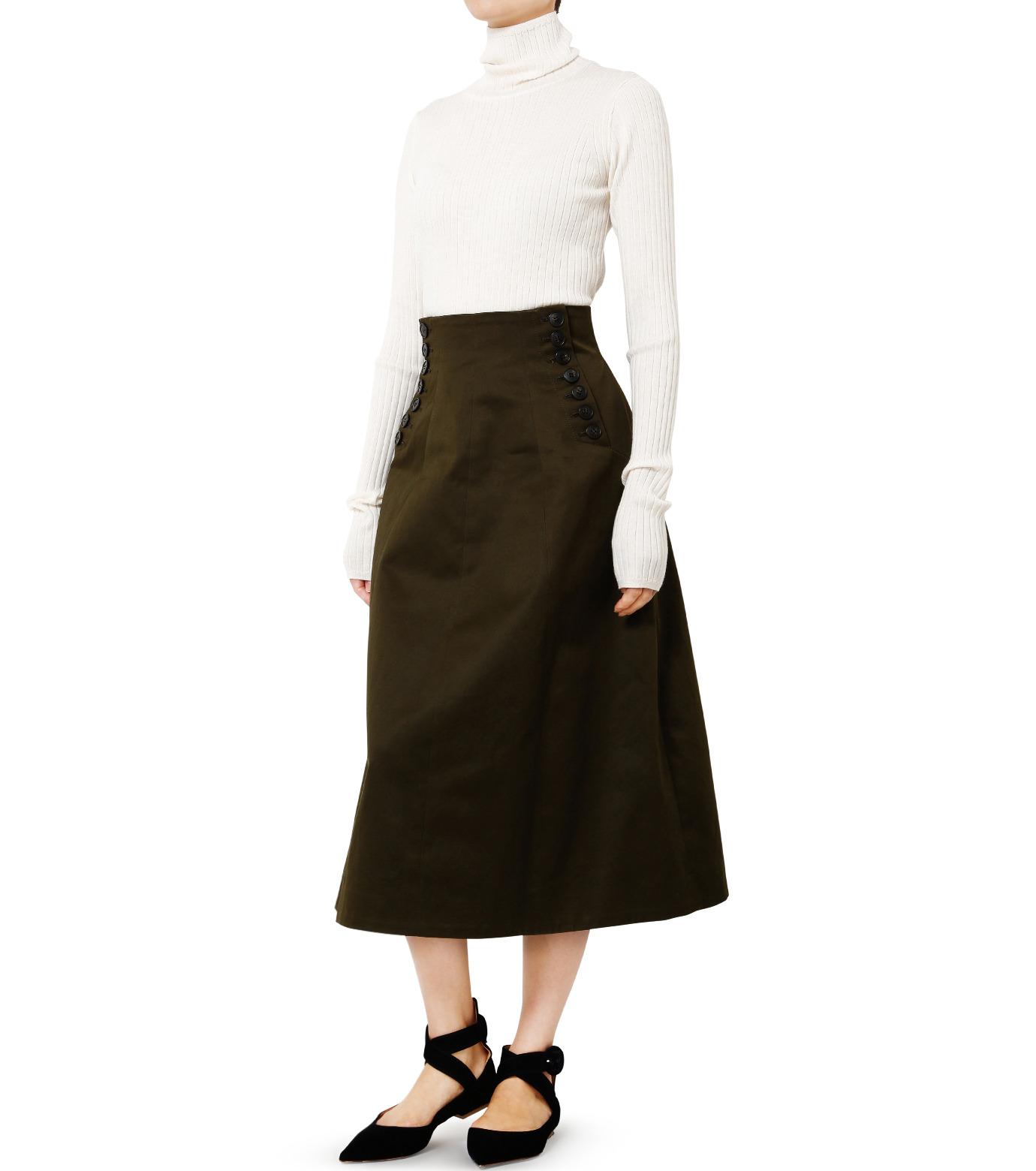 LE CIEL BLEU(ルシェルブルー)のコルセットスカート-KHAKI(スカート/skirt)-18A67528 拡大詳細画像3