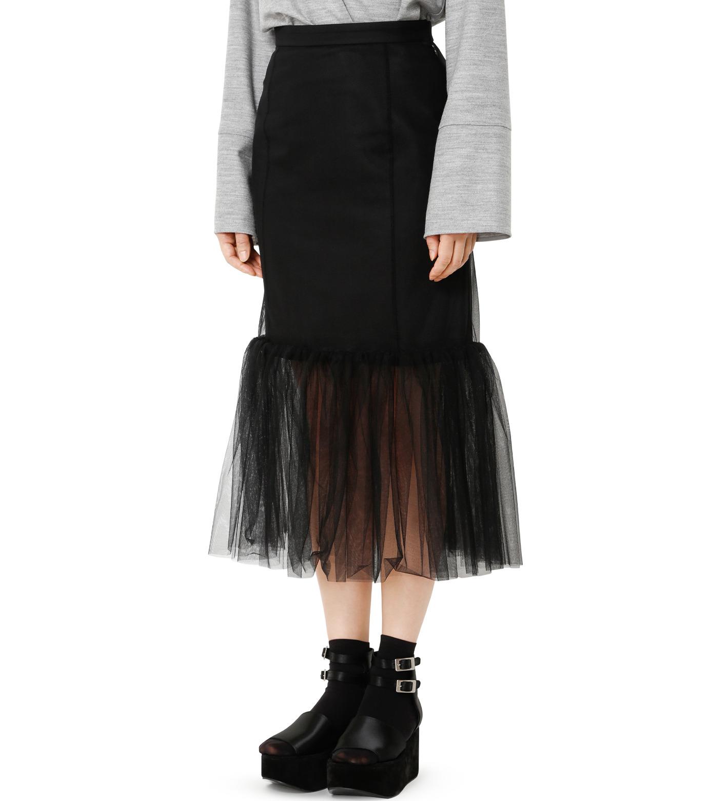 LE CIEL BLEU(ルシェルブルー)のチュールぺプラムスカート-BLACK(スカート/skirt)-18A67631 拡大詳細画像1