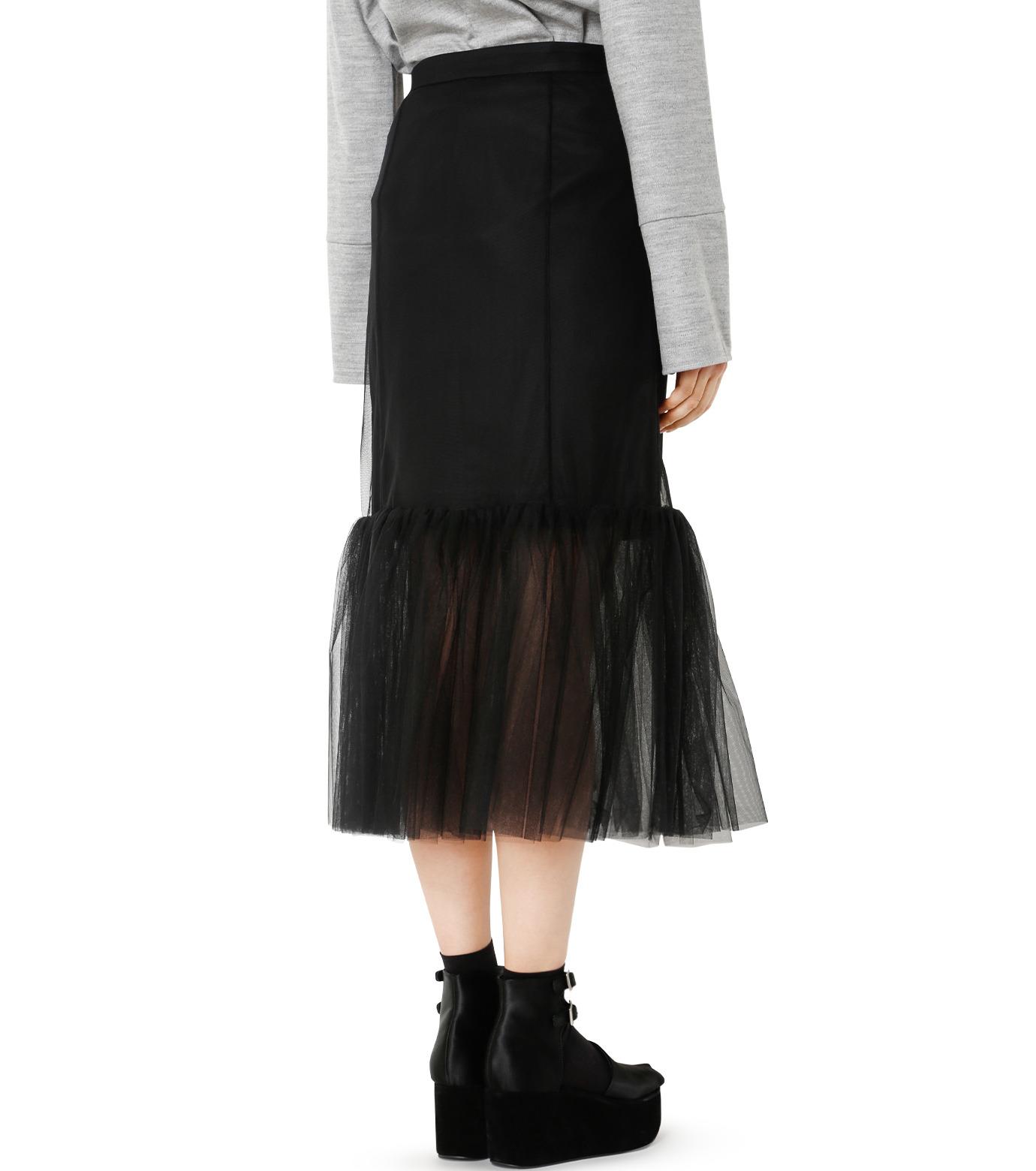 LE CIEL BLEU(ルシェルブルー)のチュールぺプラムスカート-BLACK(スカート/skirt)-18A67631 拡大詳細画像2