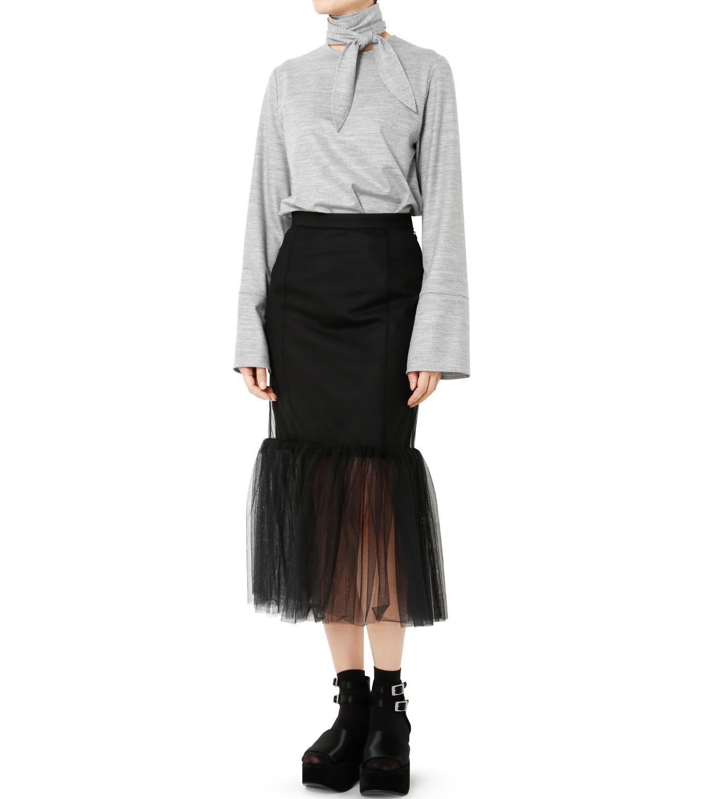 LE CIEL BLEU(ルシェルブルー)のチュールぺプラムスカート-BLACK(スカート/skirt)-18A67631 拡大詳細画像3