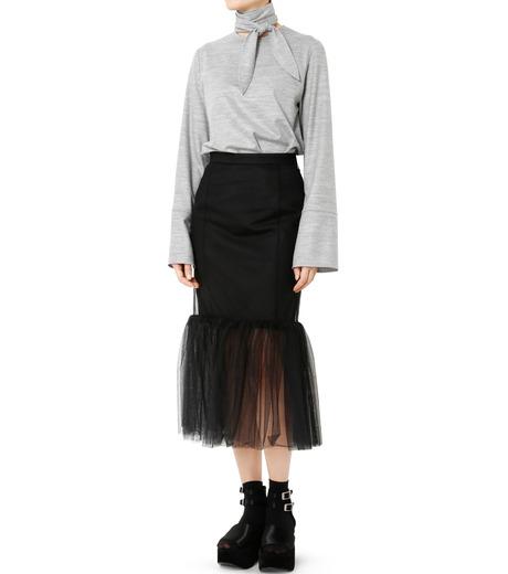 LE CIEL BLEU(ルシェルブルー)のチュールぺプラムスカート-BLACK(スカート/skirt)-18A67631 詳細画像3
