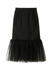 LE CIEL BLEU(ルシェルブルー) チュールぺプラムスカート