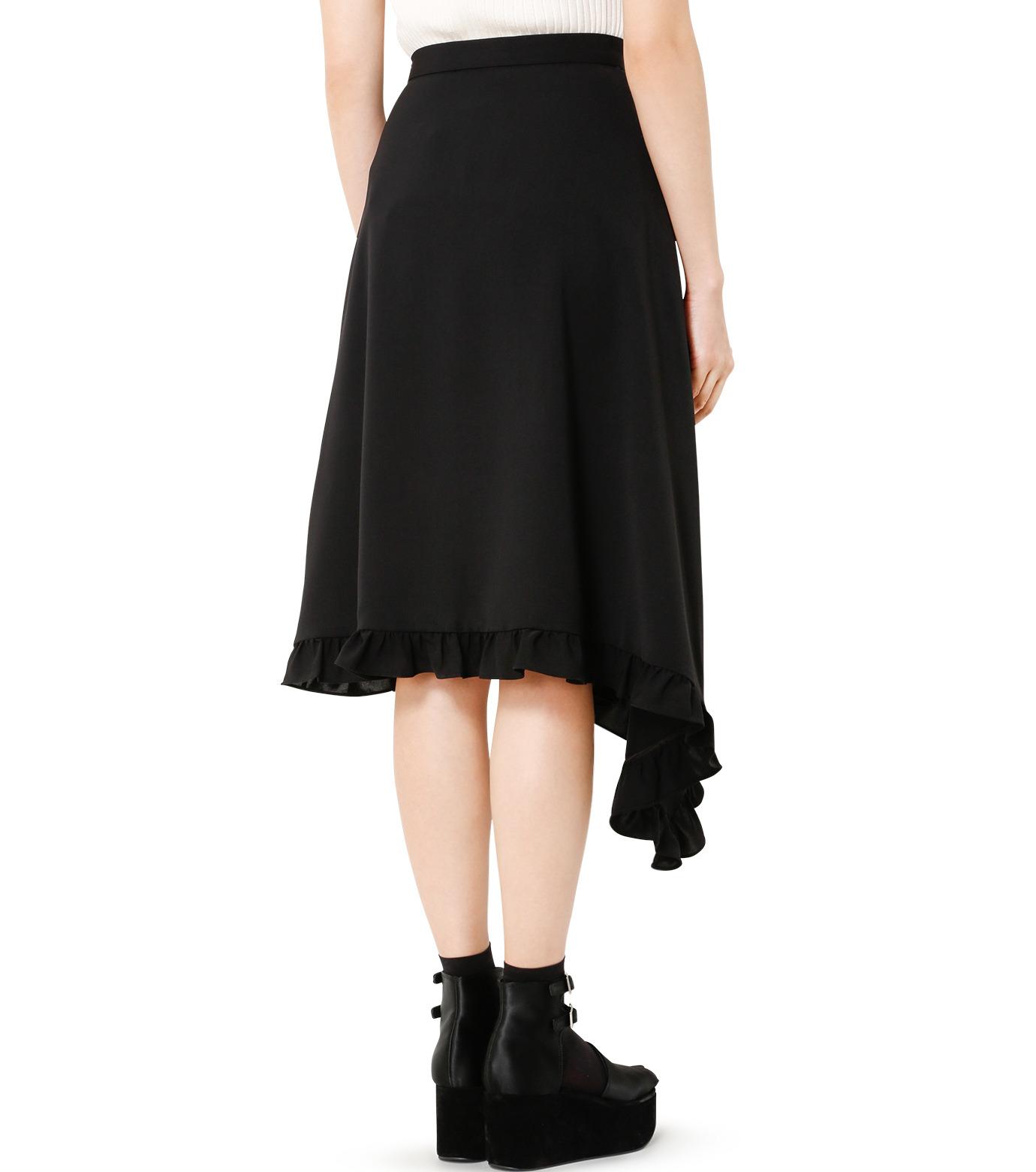 LE CIEL BLEU(ルシェルブルー)のアシンメトリーフリルヘムスカート-BLACK(スカート/skirt)-18A67636 拡大詳細画像2