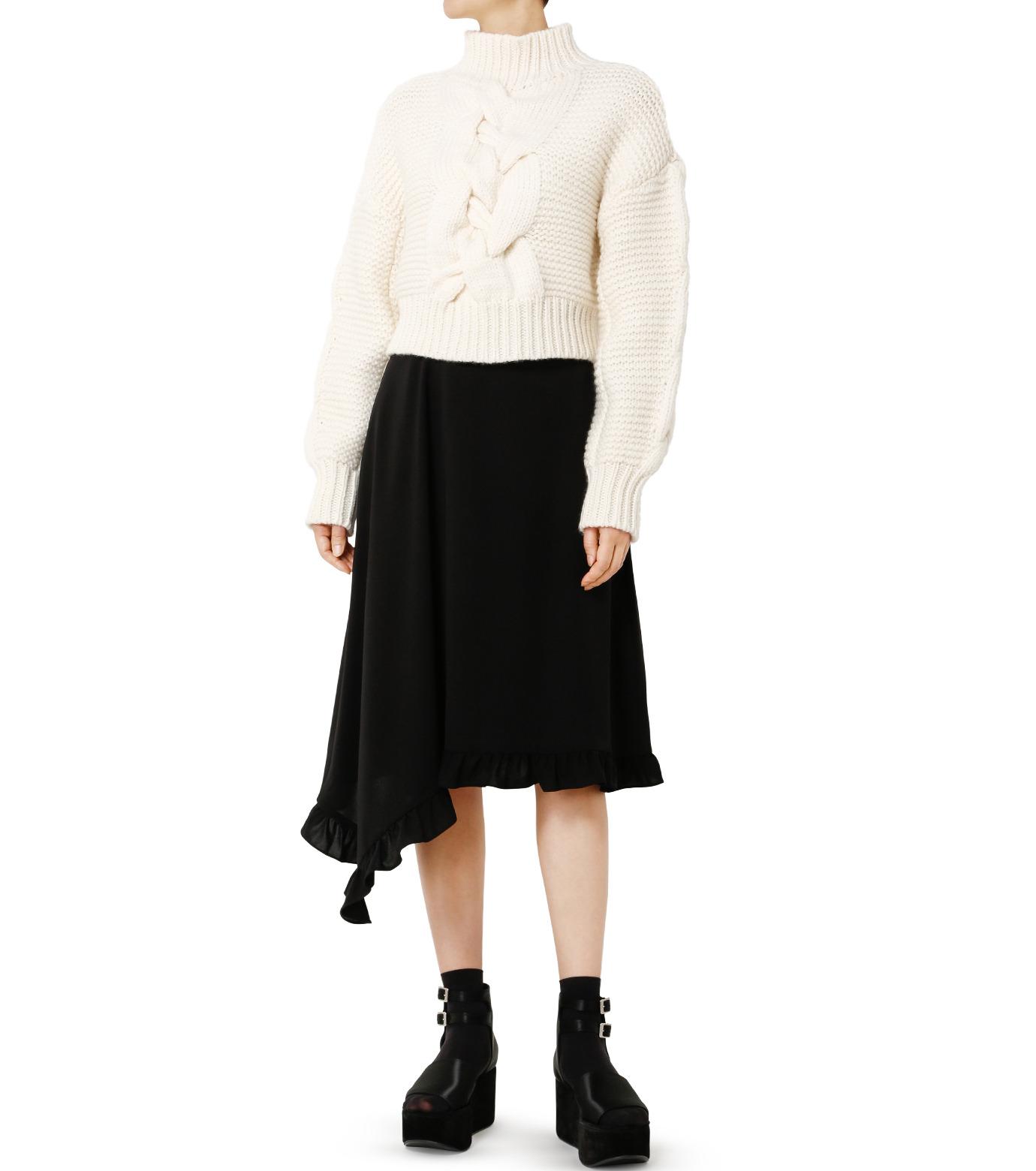 LE CIEL BLEU(ルシェルブルー)のアシンメトリーフリルヘムスカート-BLACK(スカート/skirt)-18A67636 拡大詳細画像3