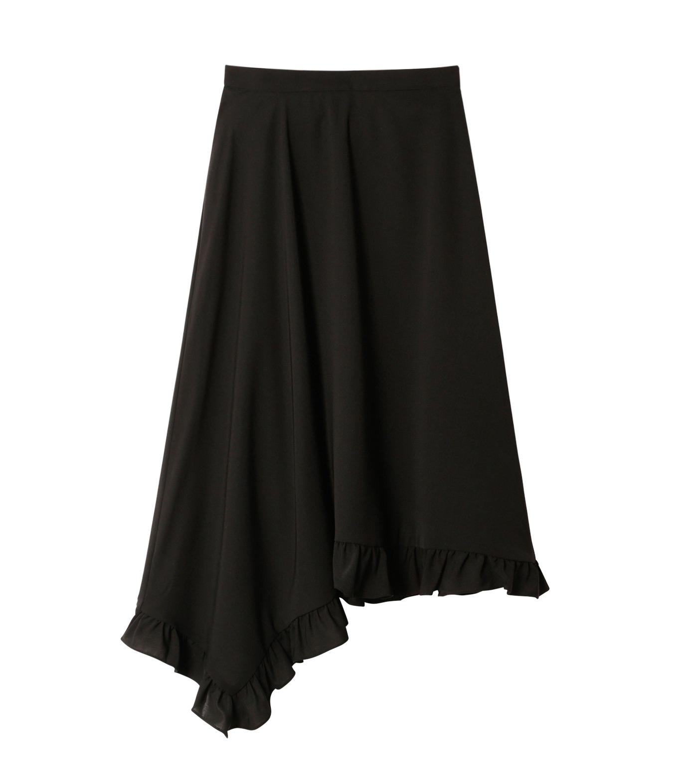 LE CIEL BLEU(ルシェルブルー)のアシンメトリーフリルヘムスカート-BLACK(スカート/skirt)-18A67636 拡大詳細画像4