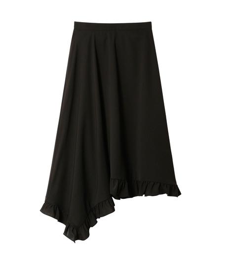 LE CIEL BLEU(ルシェルブルー)のアシンメトリーフリルヘムスカート-BLACK(スカート/skirt)-18A67636 詳細画像4