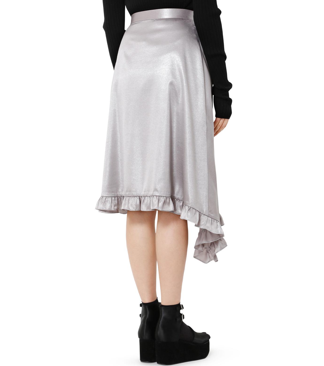 LE CIEL BLEU(ルシェルブルー)のグロッシーフリルヘムスカート-SILVER(スカート/skirt)-18A67637 拡大詳細画像2