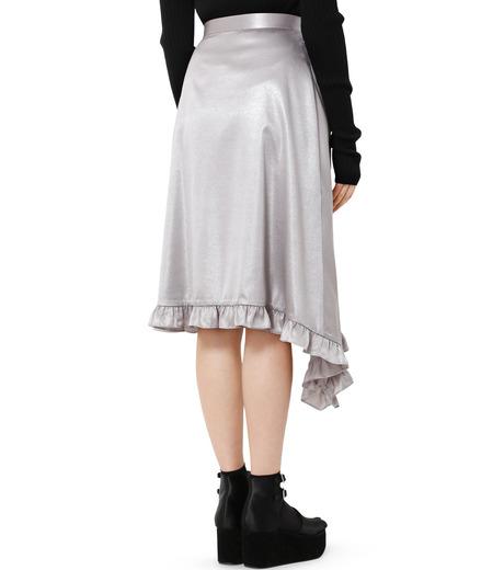 LE CIEL BLEU(ルシェルブルー)のグロッシーフリルヘムスカート-SILVER(スカート/skirt)-18A67637 詳細画像2