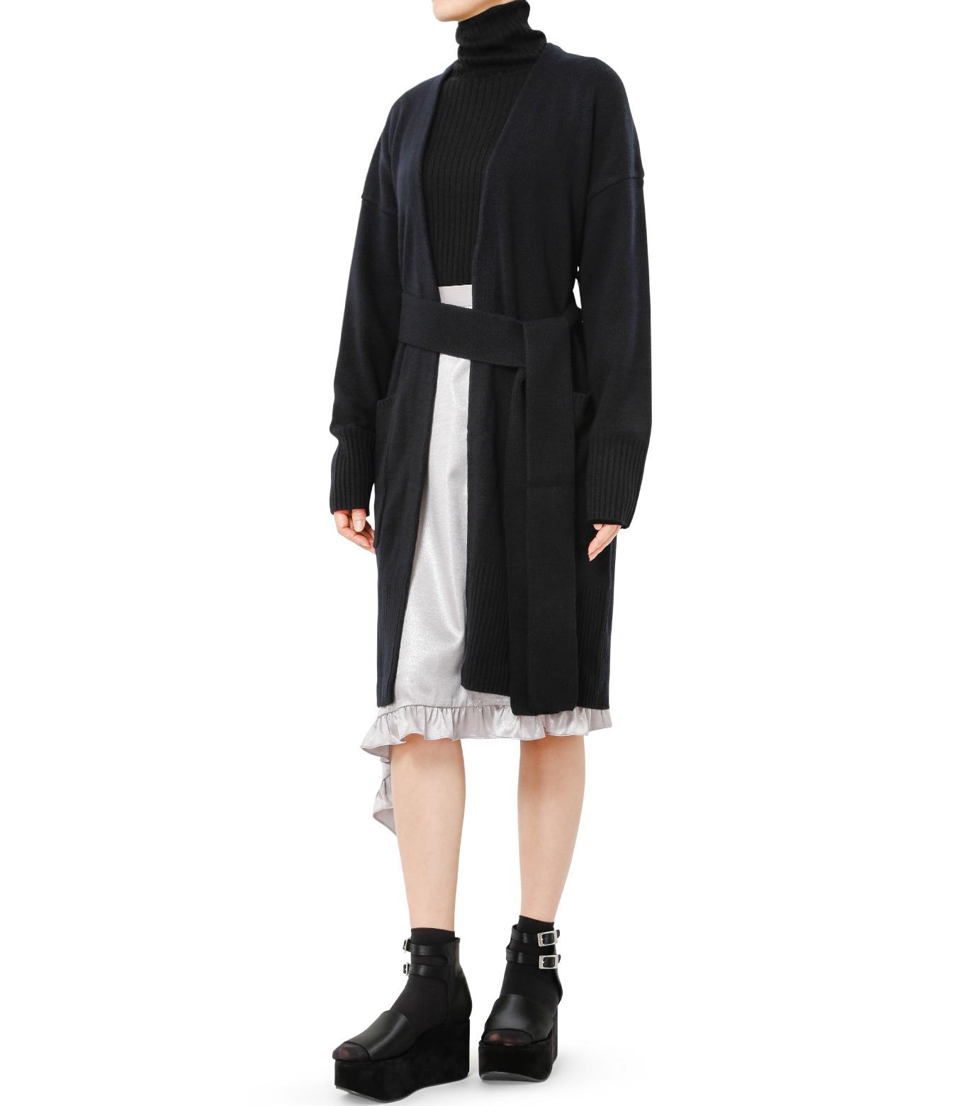 LE CIEL BLEU(ルシェルブルー)のグロッシーフリルヘムスカート-SILVER(スカート/skirt)-18A67637 拡大詳細画像3