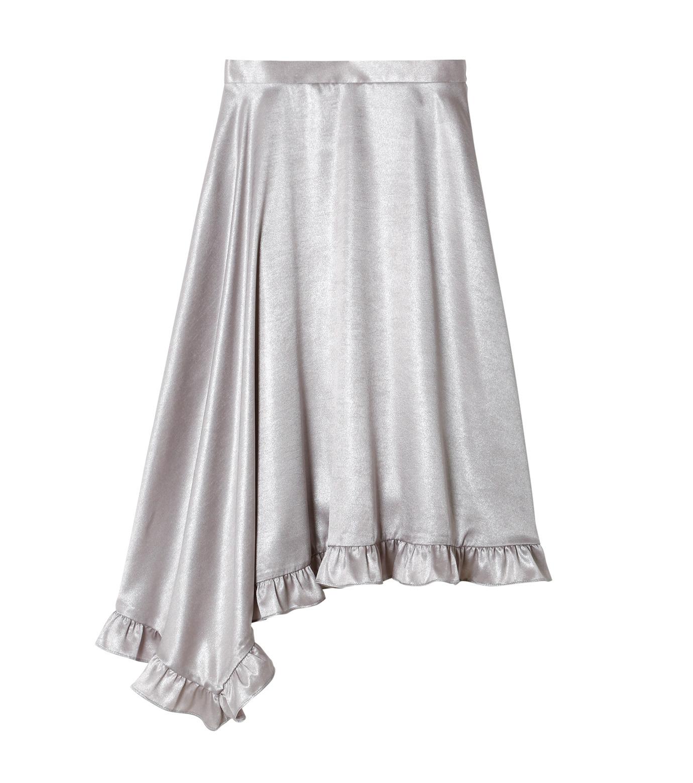 LE CIEL BLEU(ルシェルブルー)のグロッシーフリルヘムスカート-SILVER(スカート/skirt)-18A67637 拡大詳細画像4
