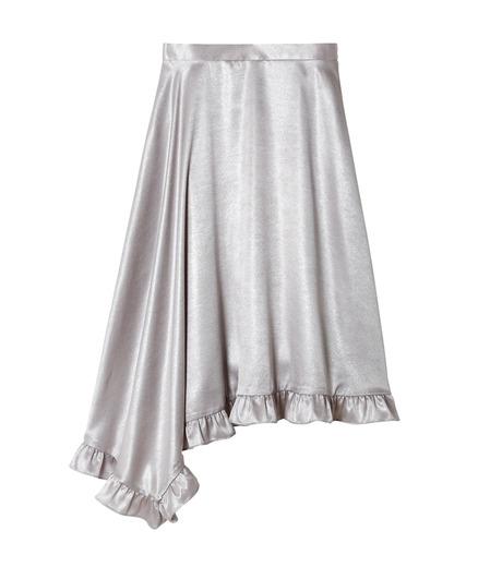 LE CIEL BLEU(ルシェルブルー)のグロッシーフリルヘムスカート-SILVER(スカート/skirt)-18A67637 詳細画像4