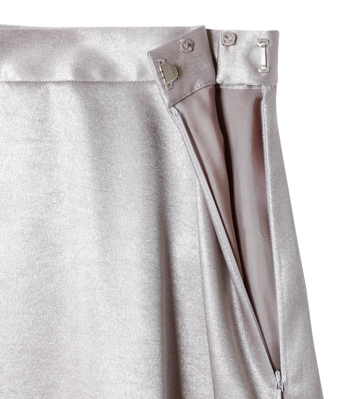 LE CIEL BLEU(ルシェルブルー)のグロッシーフリルヘムスカート-SILVER(スカート/skirt)-18A67637 拡大詳細画像5