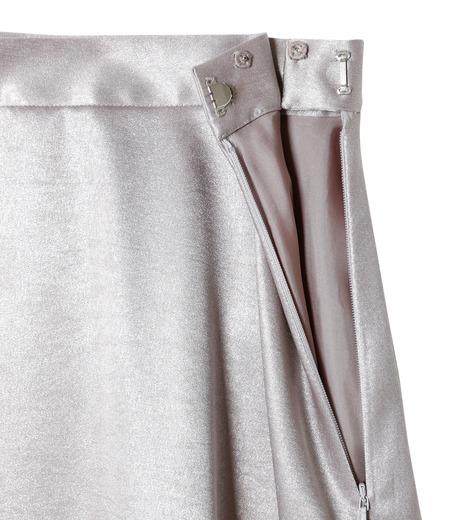 LE CIEL BLEU(ルシェルブルー)のグロッシーフリルヘムスカート-SILVER(スカート/skirt)-18A67637 詳細画像5