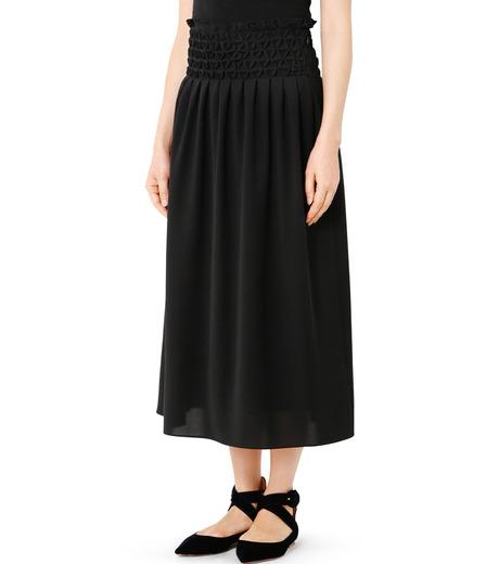 LE CIEL BLEU(ルシェルブルー)のスモッキングロングスカート-BLACK(スカート/skirt)-18A67638 詳細画像1