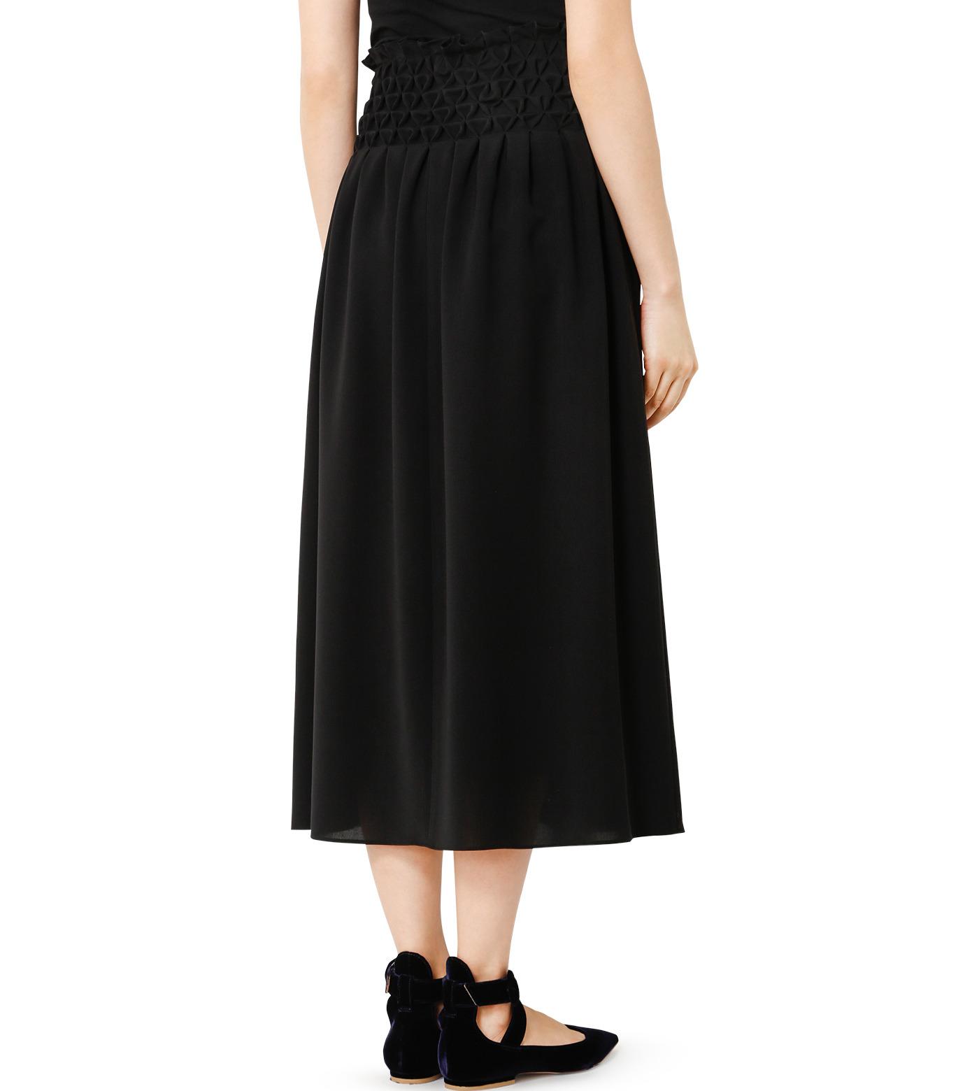 LE CIEL BLEU(ルシェルブルー)のスモッキングロングスカート-BLACK(スカート/skirt)-18A67638 拡大詳細画像2