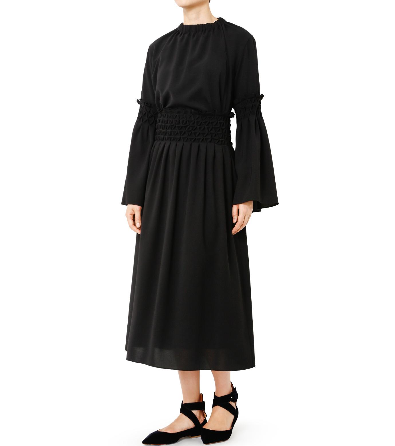 LE CIEL BLEU(ルシェルブルー)のスモッキングロングスカート-BLACK(スカート/skirt)-18A67638 拡大詳細画像3