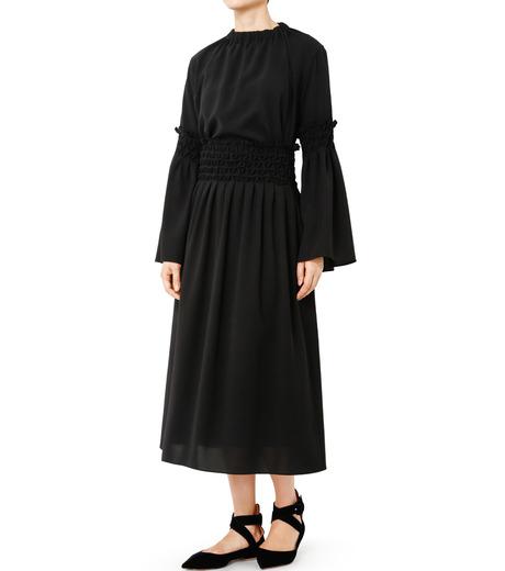LE CIEL BLEU(ルシェルブルー)のスモッキングロングスカート-BLACK(スカート/skirt)-18A67638 詳細画像3