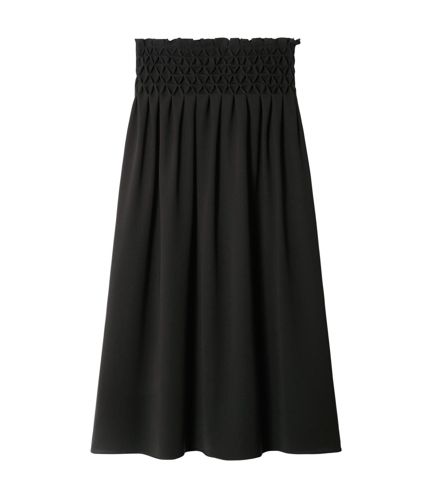 LE CIEL BLEU(ルシェルブルー)のスモッキングロングスカート-BLACK(スカート/skirt)-18A67638 拡大詳細画像4