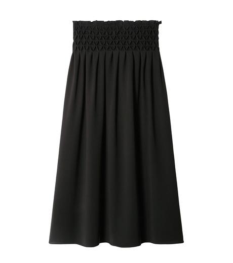 LE CIEL BLEU(ルシェルブルー)のスモッキングロングスカート-BLACK(スカート/skirt)-18A67638 詳細画像4