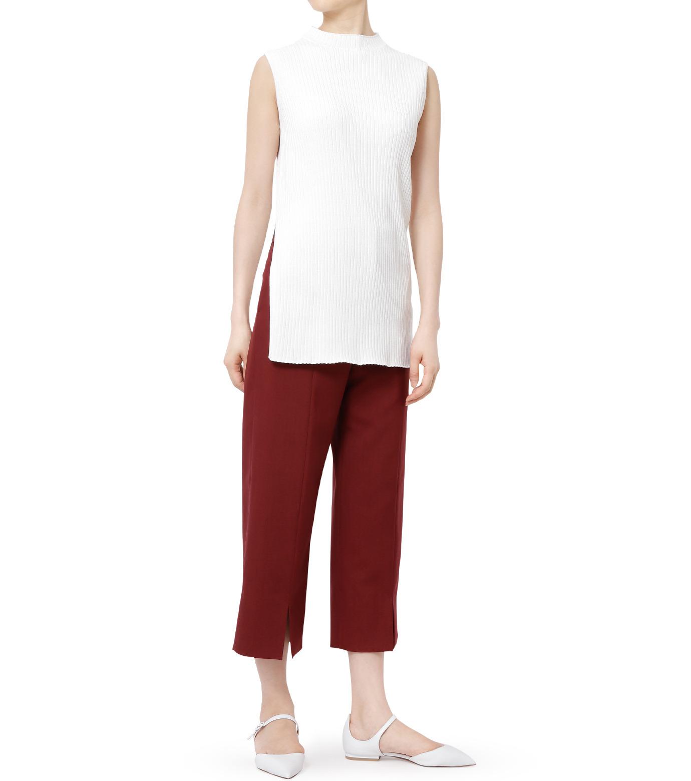 LE CIEL BLEU(ルシェルブルー)のサマーウールストレートパンツ-BORDEAUX(パンツ/pants)-18A68001 拡大詳細画像4