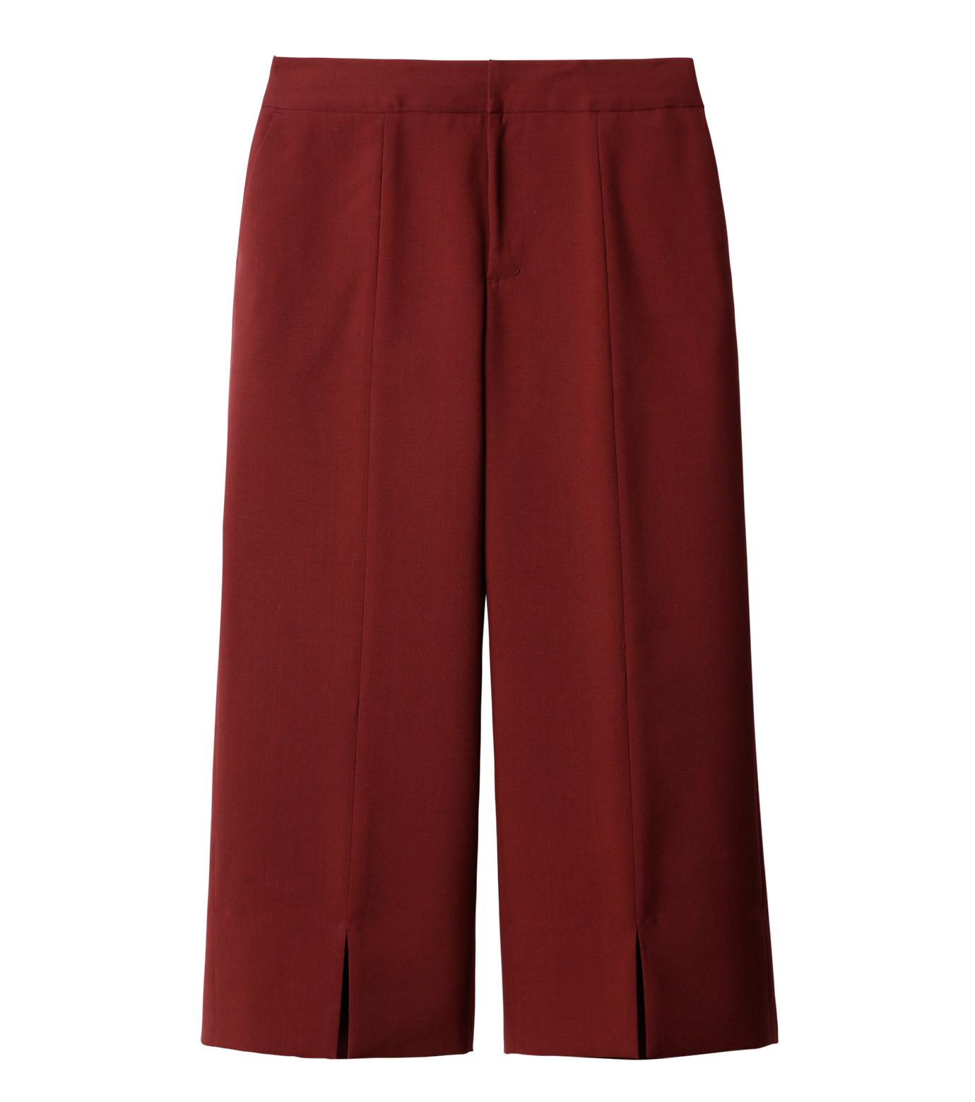 LE CIEL BLEU(ルシェルブルー)のサマーウールストレートパンツ-BORDEAUX(パンツ/pants)-18A68001 拡大詳細画像5