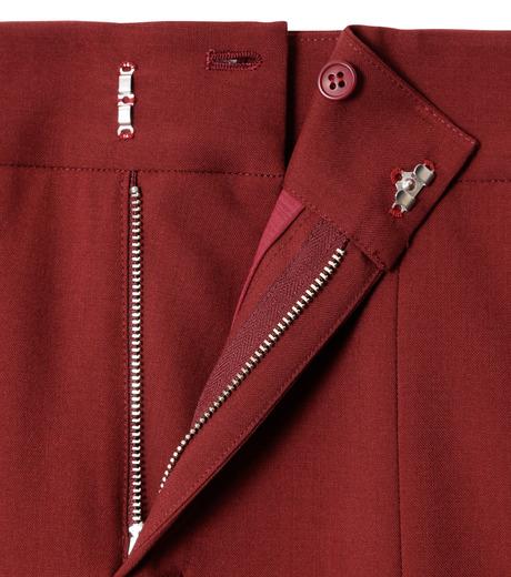 LE CIEL BLEU(ルシェルブルー)のサマーウールストレートパンツ-BORDEAUX(パンツ/pants)-18A68001 詳細画像6