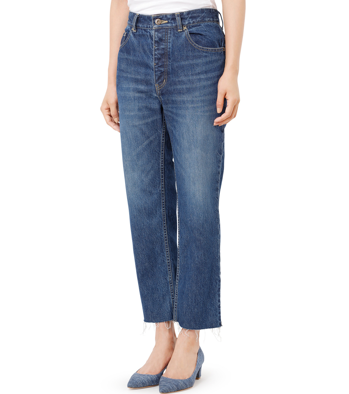 LE CIEL BLEU(ルシェルブルー)のストレートデニムパンツ-INDIGO(パンツ/pants)-18A68202 拡大詳細画像1