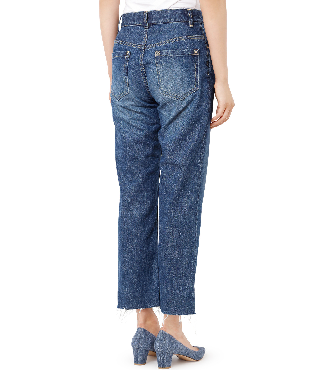 LE CIEL BLEU(ルシェルブルー)のストレートデニムパンツ-INDIGO(パンツ/pants)-18A68202 拡大詳細画像2