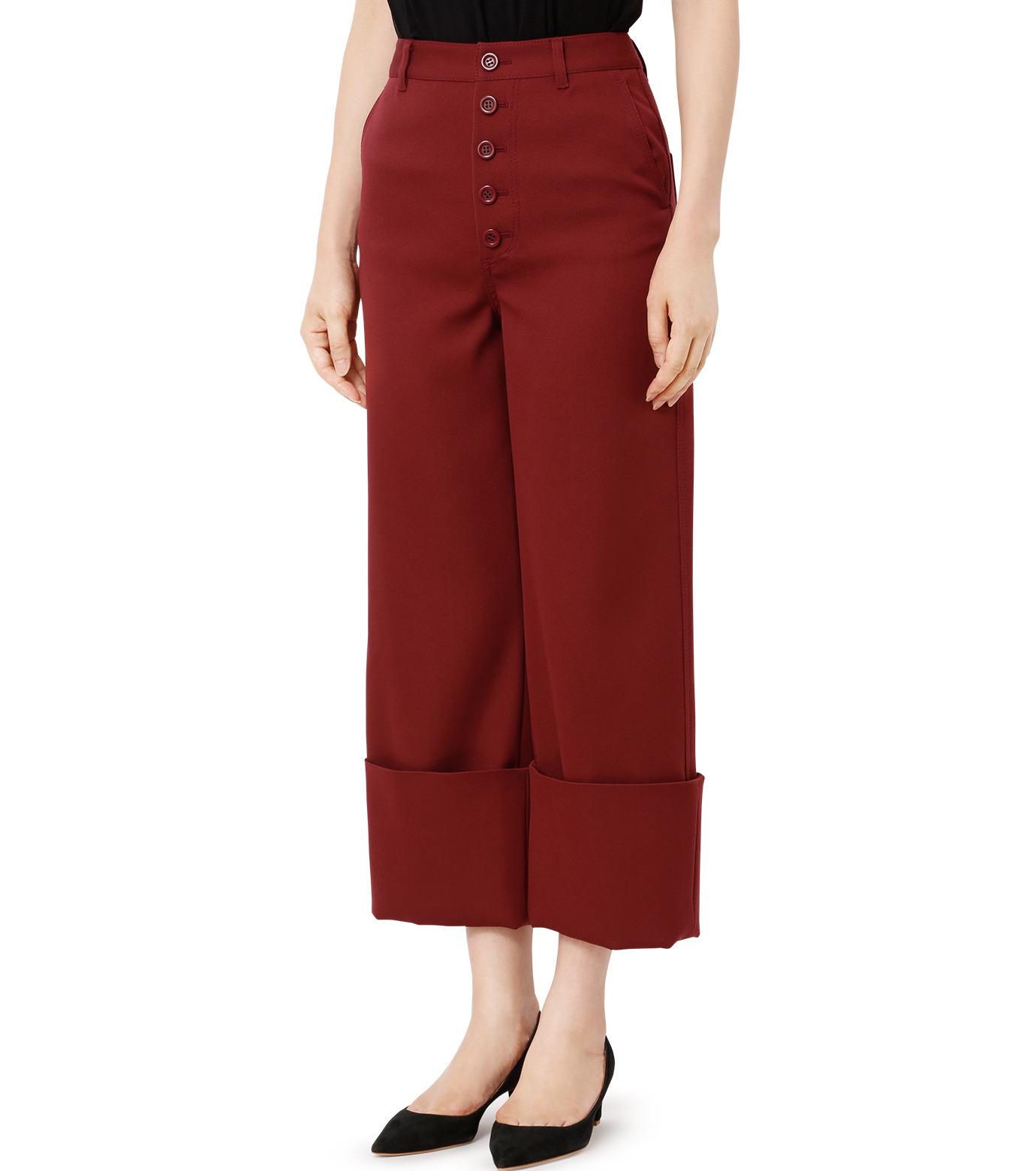 LE CIEL BLEU(ルシェルブルー)のWクローズフォールドバックパンツ-BORDEAUX(パンツ/pants)-18A68302 拡大詳細画像1