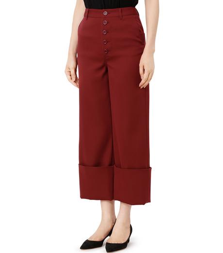 LE CIEL BLEU(ルシェルブルー)のWクローズフォールドバックパンツ-BORDEAUX(パンツ/pants)-18A68302 詳細画像1