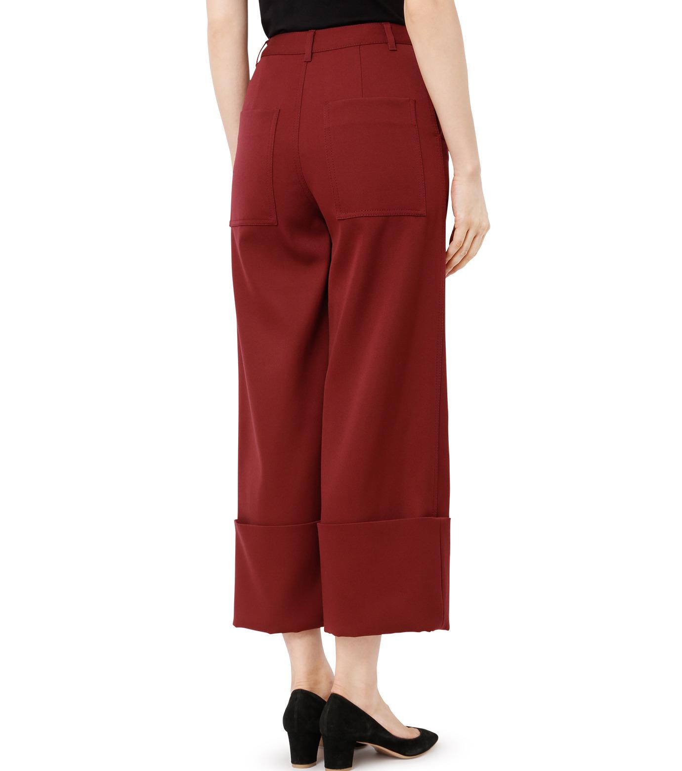 LE CIEL BLEU(ルシェルブルー)のWクローズフォールドバックパンツ-BORDEAUX(パンツ/pants)-18A68302 拡大詳細画像2