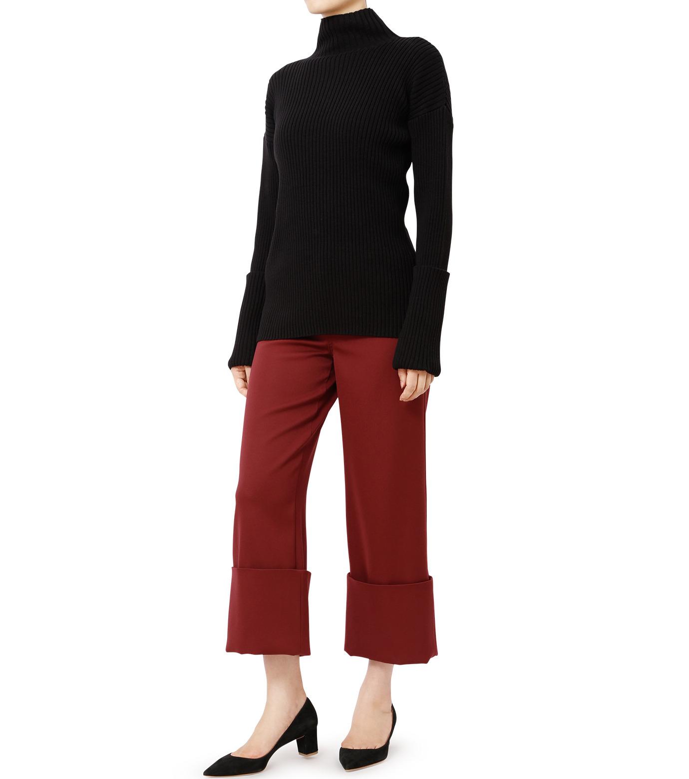 LE CIEL BLEU(ルシェルブルー)のWクローズフォールドバックパンツ-BORDEAUX(パンツ/pants)-18A68302 拡大詳細画像3