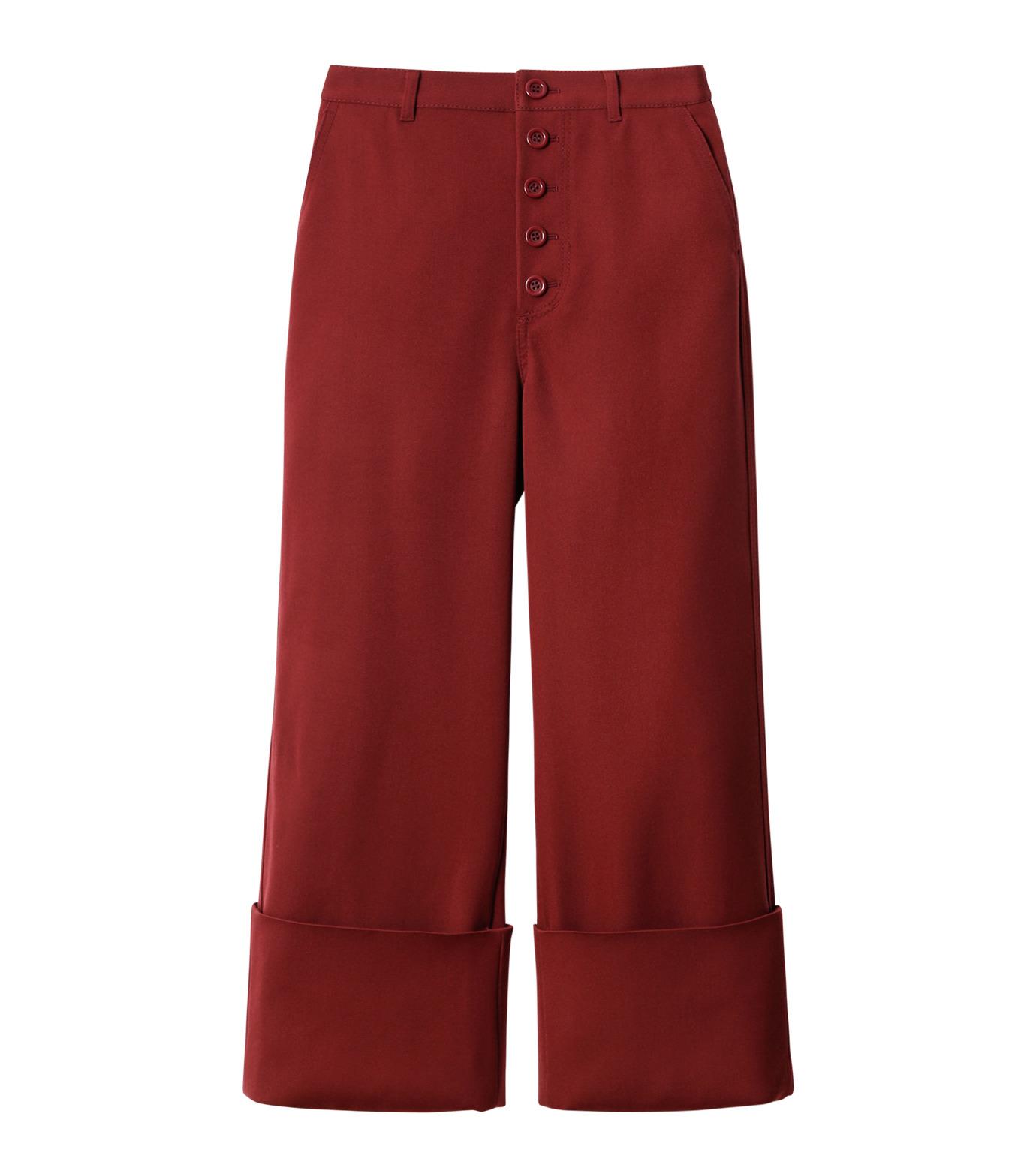 LE CIEL BLEU(ルシェルブルー)のWクローズフォールドバックパンツ-BORDEAUX(パンツ/pants)-18A68302 拡大詳細画像4