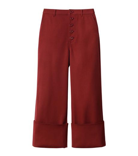 LE CIEL BLEU(ルシェルブルー)のWクローズフォールドバックパンツ-BORDEAUX(パンツ/pants)-18A68302 詳細画像4