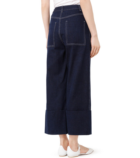 LE CIEL BLEU(ルシェルブルー)のデニムフォールドバックパンツ-INDIGO(パンツ/pants)-18A68304 詳細画像2