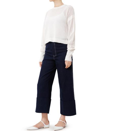LE CIEL BLEU(ルシェルブルー)のデニムフォールドバックパンツ-INDIGO(パンツ/pants)-18A68304 詳細画像3