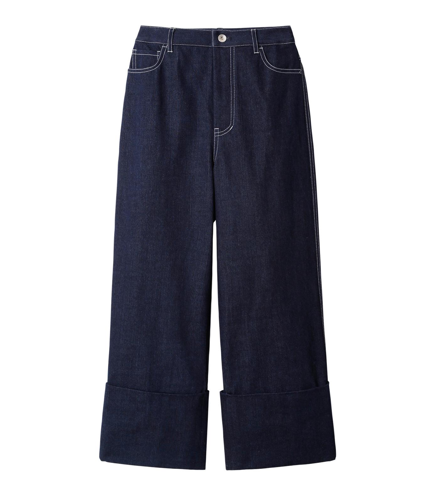 LE CIEL BLEU(ルシェルブルー)のデニムフォールドバックパンツ-INDIGO(パンツ/pants)-18A68304 拡大詳細画像4