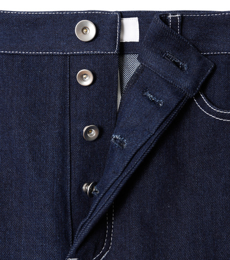 LE CIEL BLEU(ルシェルブルー)のデニムフォールドバックパンツ-INDIGO(パンツ/pants)-18A68304 詳細画像5