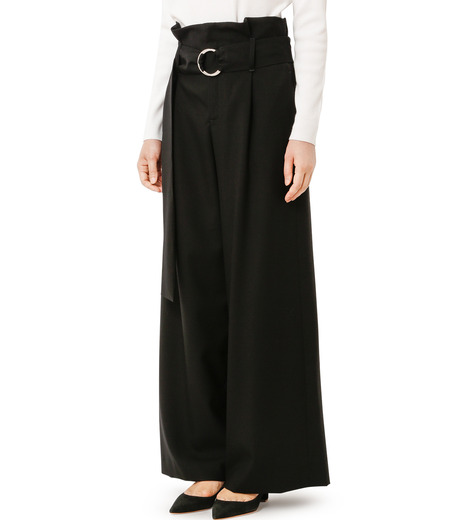 LE CIEL BLEU(ルシェルブルー)のベルトハイウエストパンツ-BLACK(パンツ/pants)-18A68408 詳細画像1