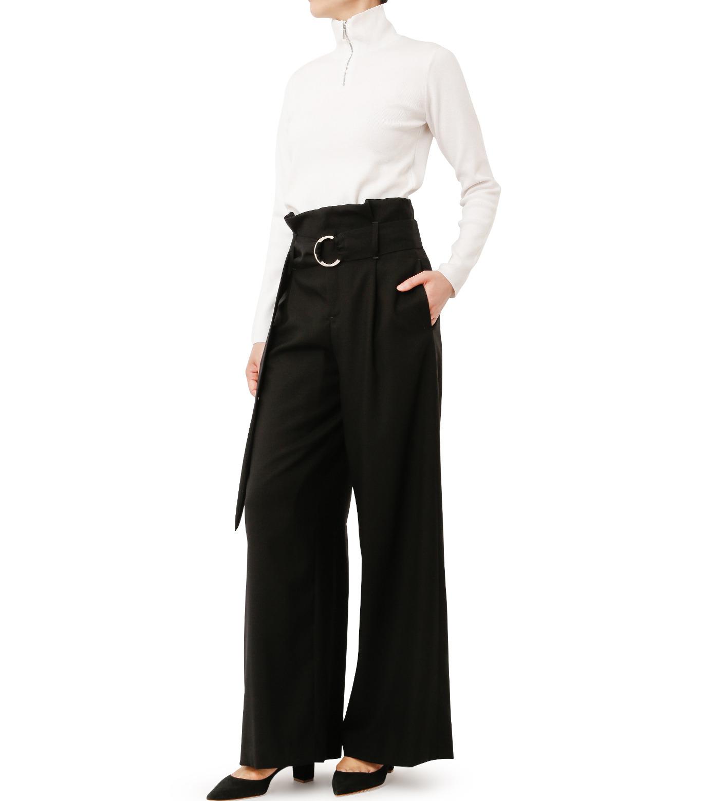 LE CIEL BLEU(ルシェルブルー)のベルトハイウエストパンツ-BLACK(パンツ/pants)-18A68408 拡大詳細画像3