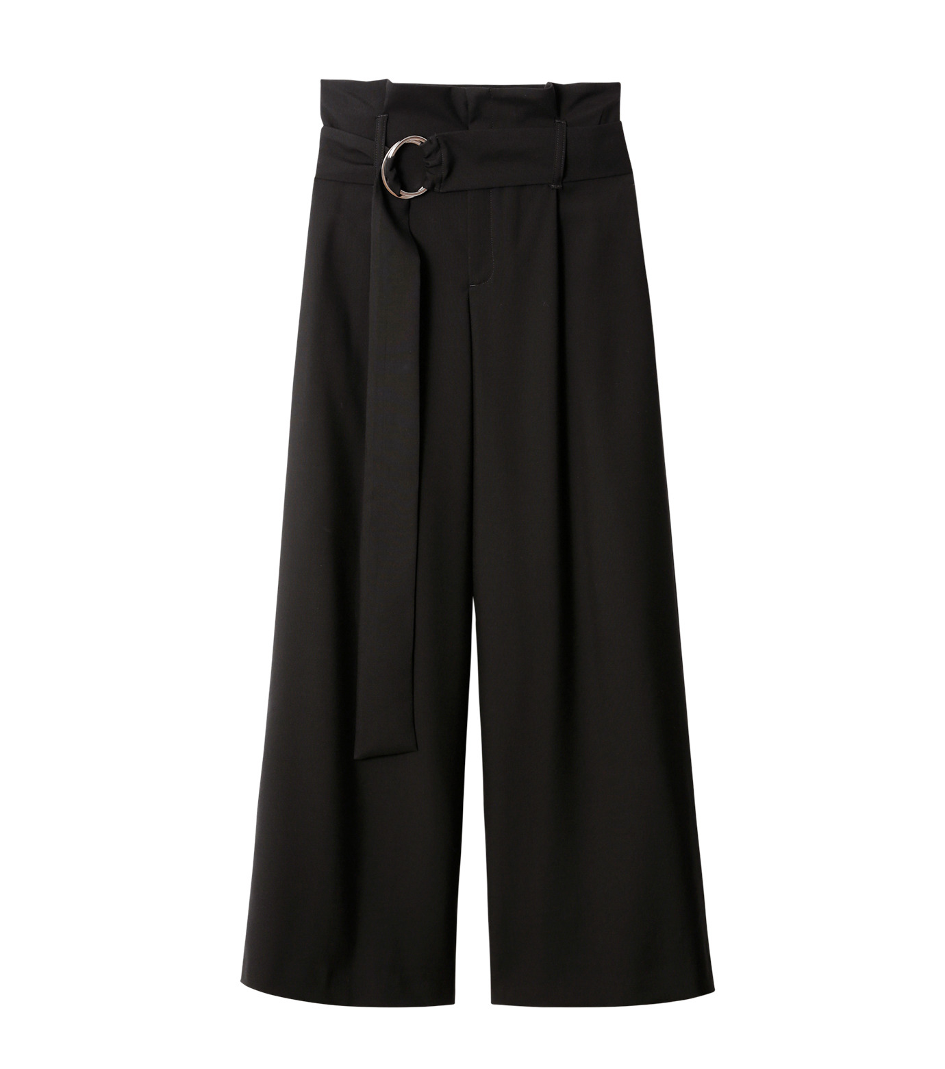LE CIEL BLEU(ルシェルブルー)のベルトハイウエストパンツ-BLACK(パンツ/pants)-18A68408 拡大詳細画像4
