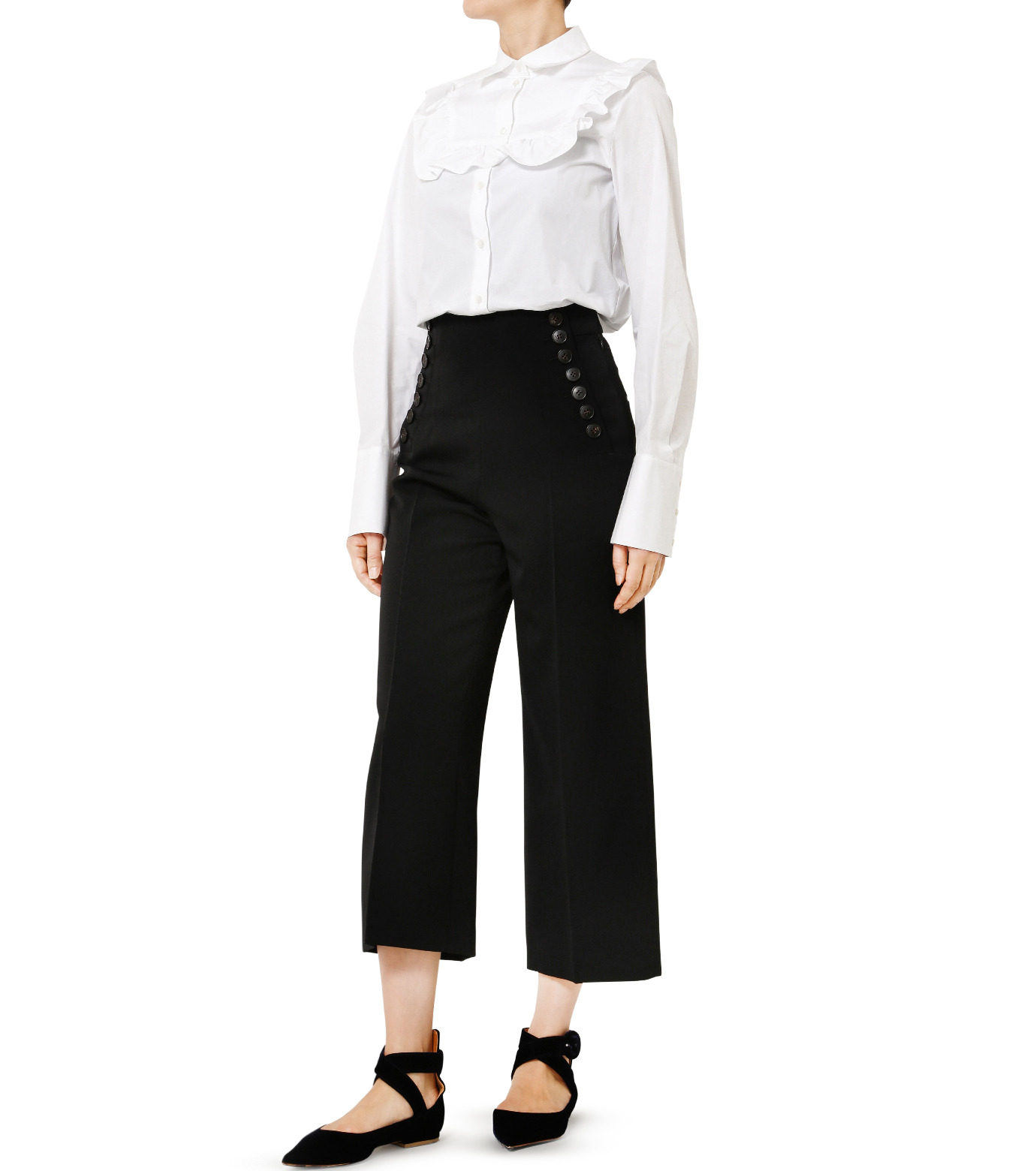 LE CIEL BLEU(ルシェルブルー)のタキシードコルセットパンツ-BLACK(パンツ/pants)-18A68513 拡大詳細画像3