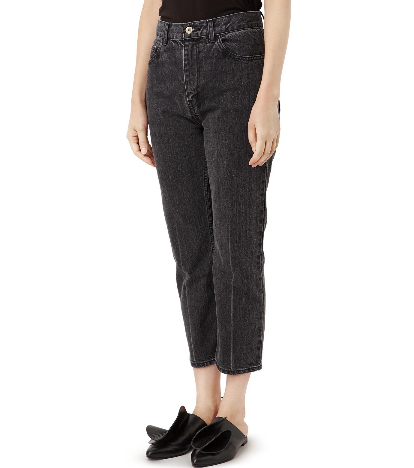 LE CIEL BLEU(ルシェルブルー)のセンタープレスデニムパンツ-BLACK(パンツ/pants)-18A68515 拡大詳細画像1