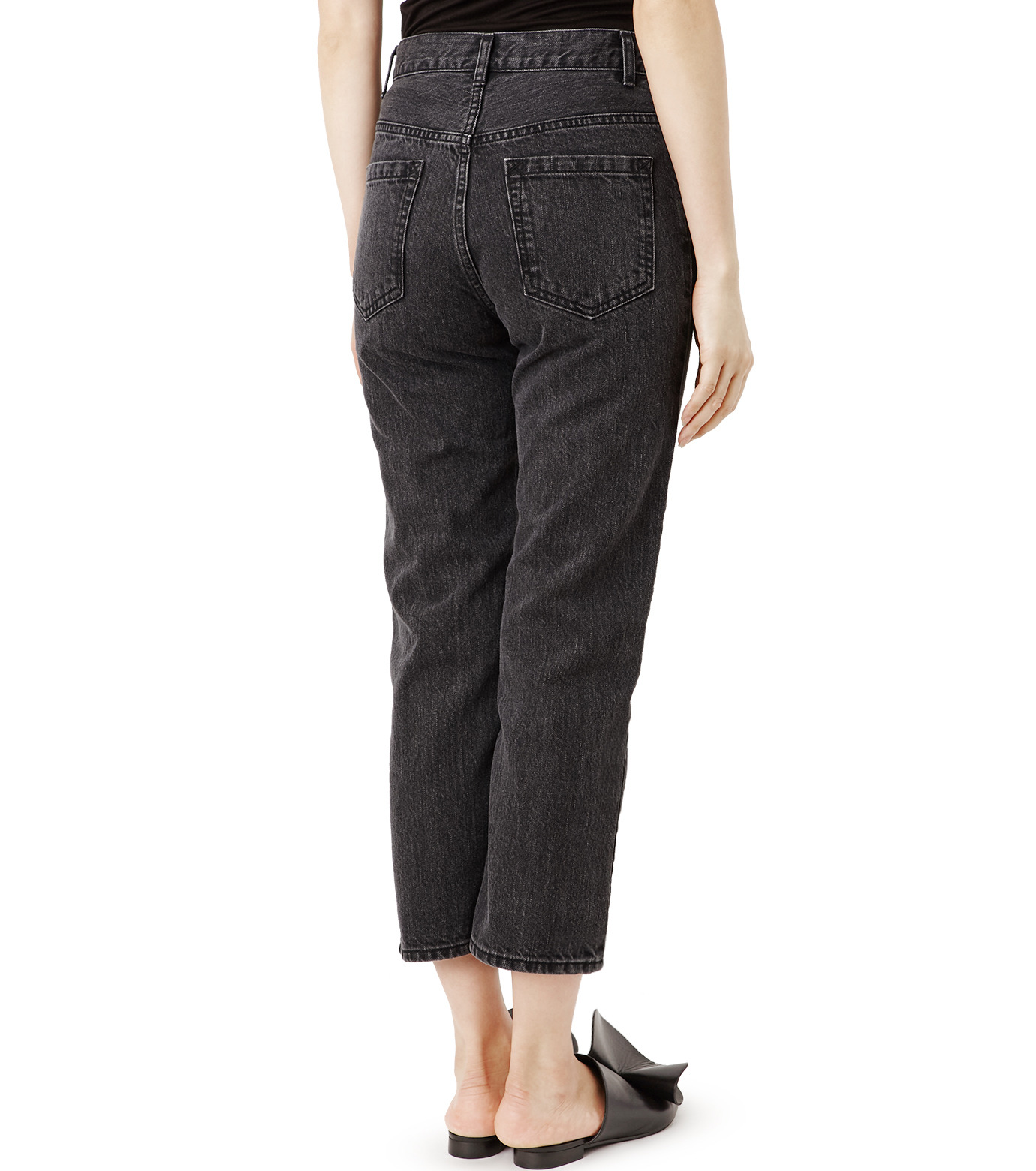 LE CIEL BLEU(ルシェルブルー)のセンタープレスデニムパンツ-BLACK(パンツ/pants)-18A68515 拡大詳細画像2